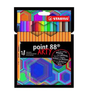 STABILO - Fineliner Point 88 Arty 8818/1-20, 18-teilig