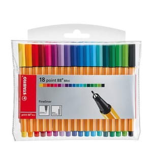 STABILO - Point 88 Mini 0,4mm 688/18-1 18 Farben, Etui