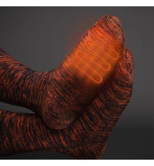 ORORO - Sequoia Beheizte Socken - Schwarz