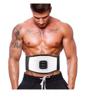 Bauchmuskulatur-Elektrostimulationsgürtel - Schwarz