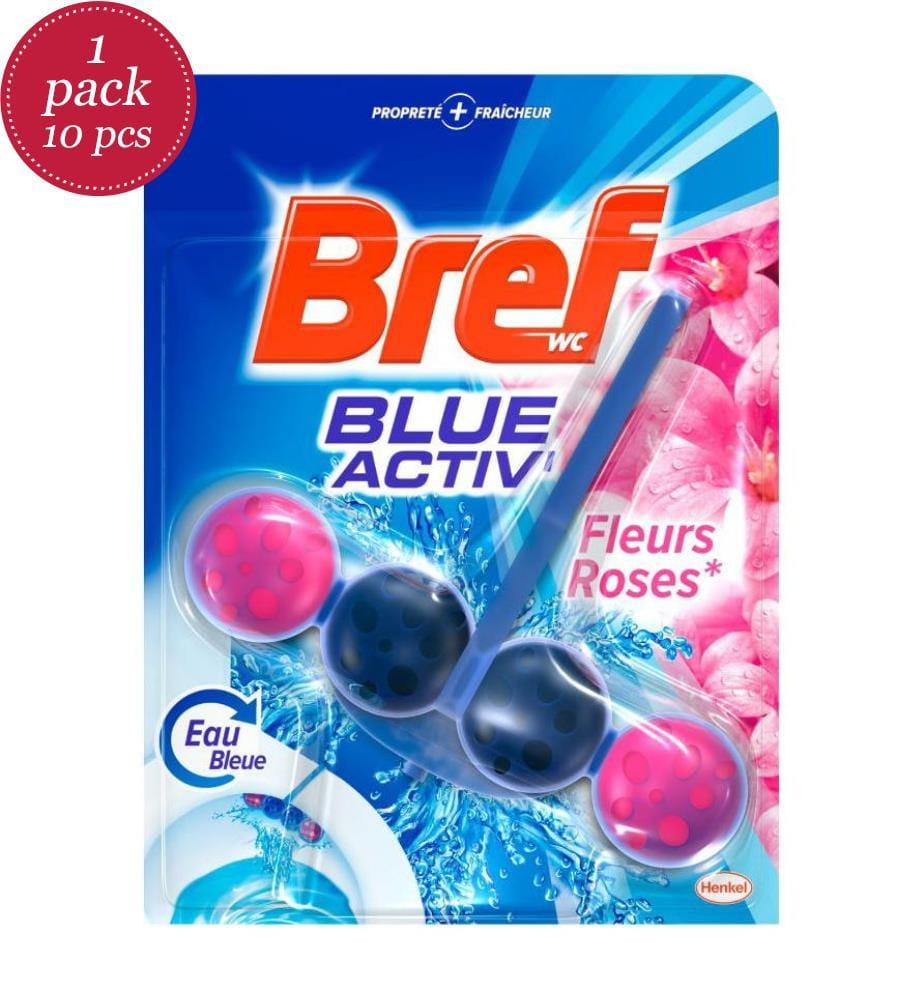 BREF - 10er-Pack WC-Steine Fleurs Roses - 10 x 50 g