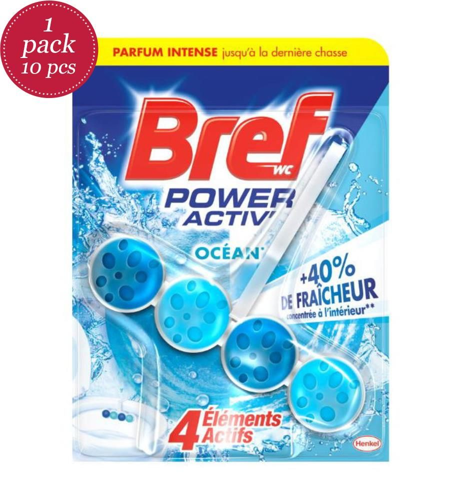 BREF - 10er-Pack WC-Steine Ocean - 10 x 50 g