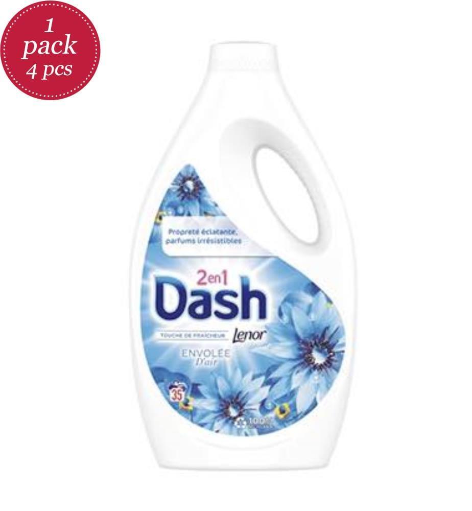 DASH - Flüssigwaschmittel 1.925L 2in1 Lenor - Air Freshener - 35 Waschgänge