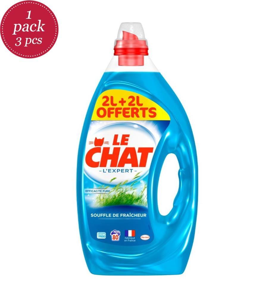 LE CHAT - 3er-Set Flüssigwaschmittel Souffle de Fraîcheur