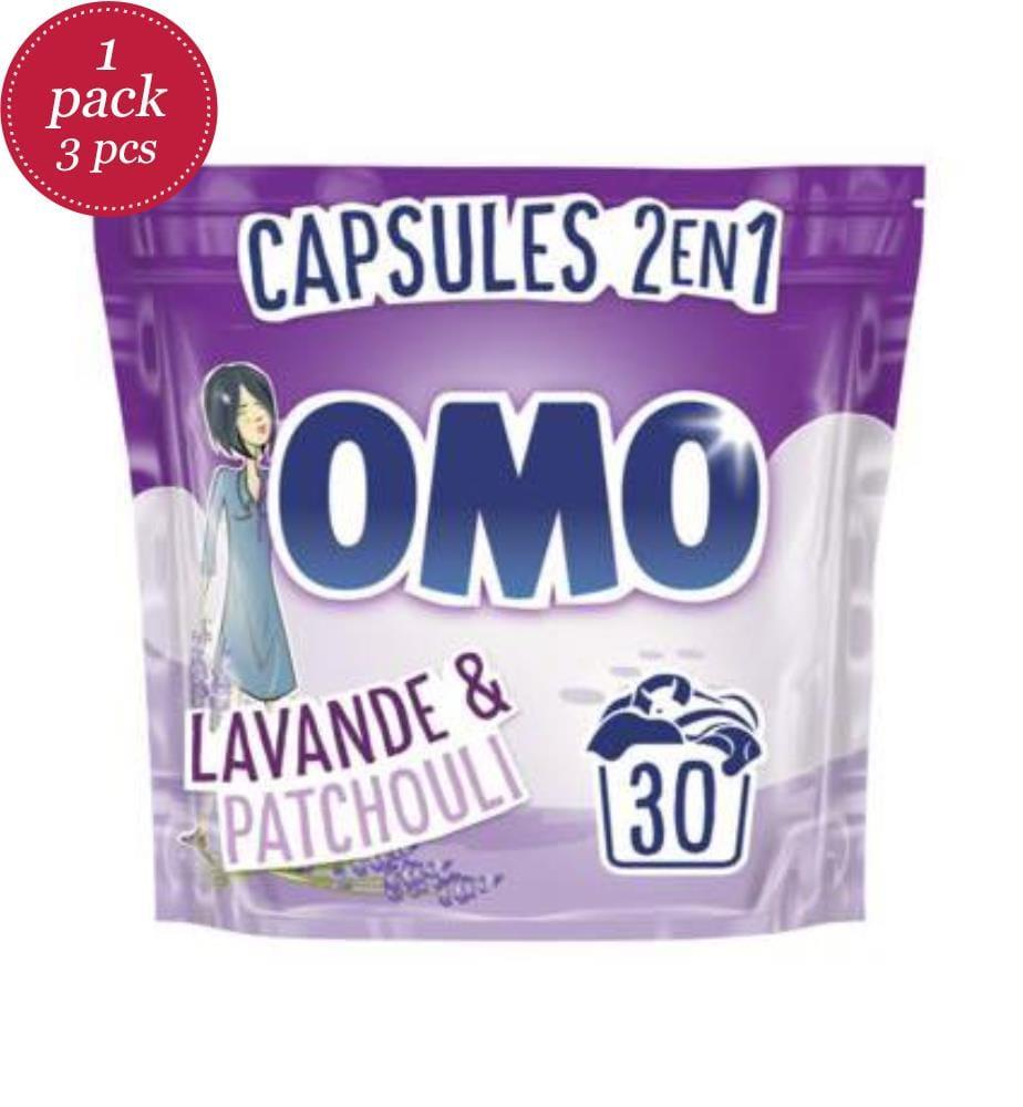 OMO - 3er-Set Kapselwaschmittel 723 g - 2in1 - Lavendel und Patschuli - 30 Waschgänge