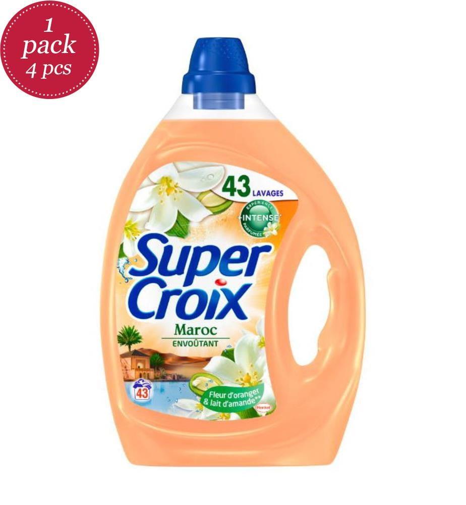 SUPER CROIX - 4er-Set Flüssigwaschmittel Maroc - 43 Waschgänge und 4 x 2.15 l