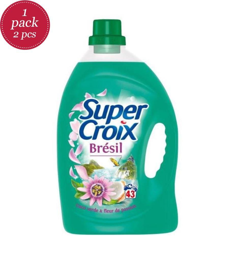 SUPER CROIX - 2er-Set Flüssigwaschmittel Brésil - 43 Waschgänge und 2 x 3.01 l