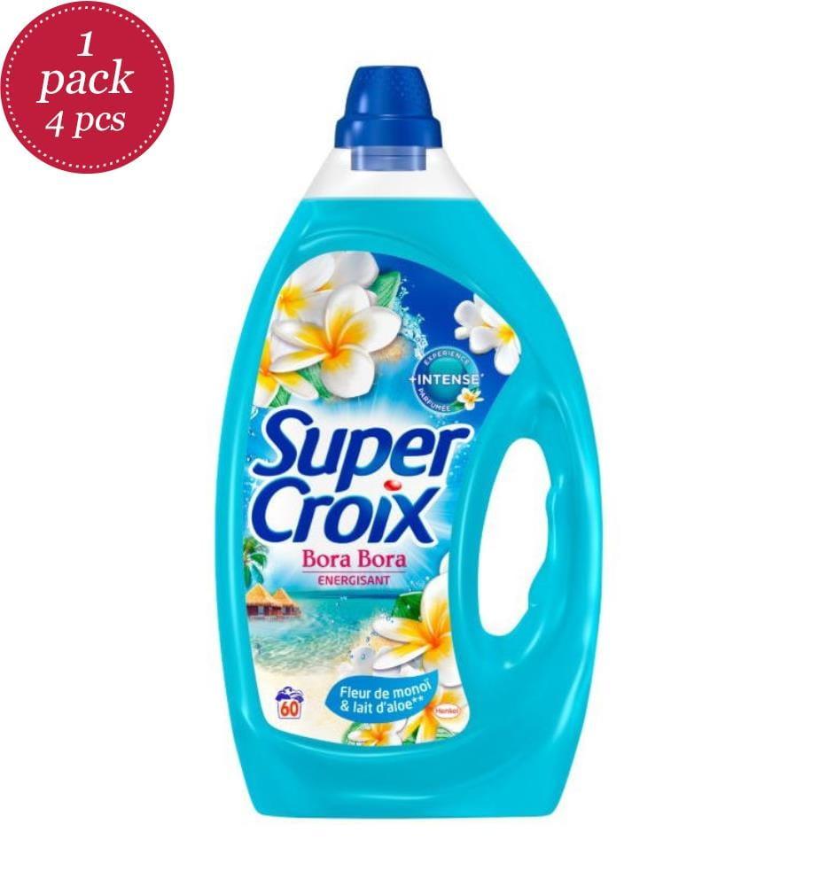 SUPER CROIX - 4er-Set Flüssigwaschmittel Bora Bora - 60 Waschgänge und 4 x 3 l