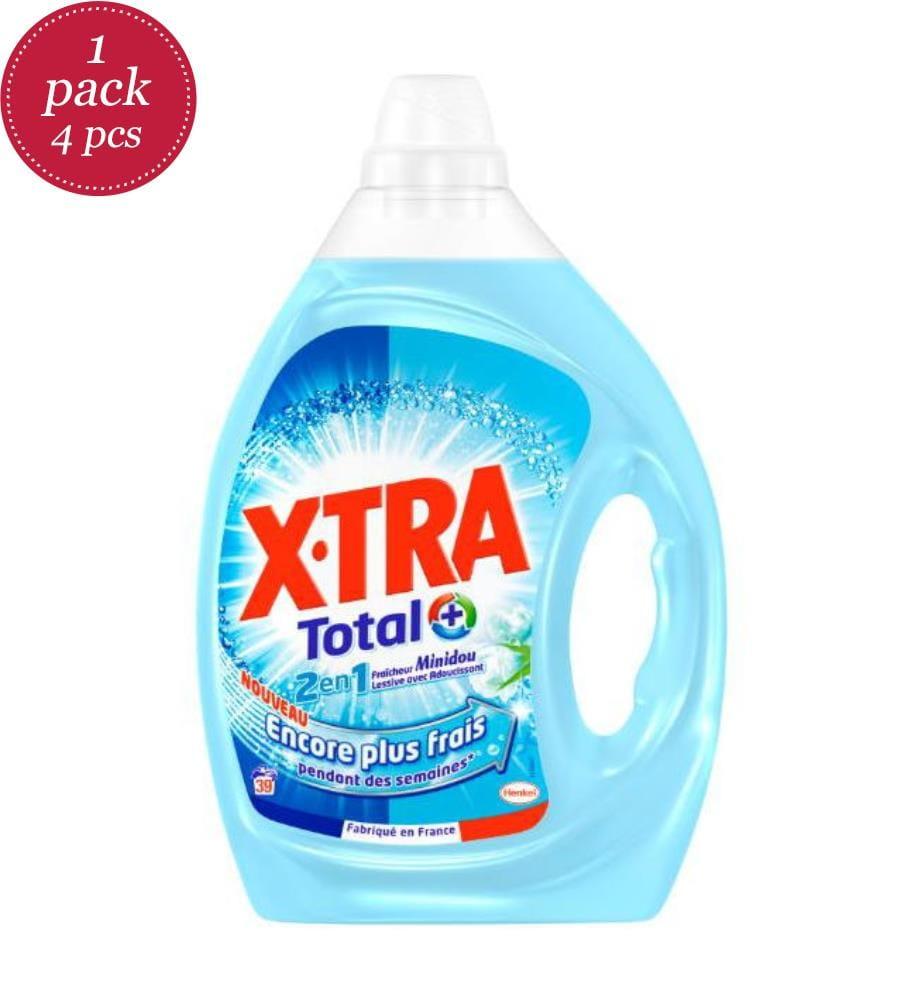 XTRA - 4er-Set Flüssigwaschmittel 2en1 Minidou - 39 Waschgänge und 4 x 1.95 l
