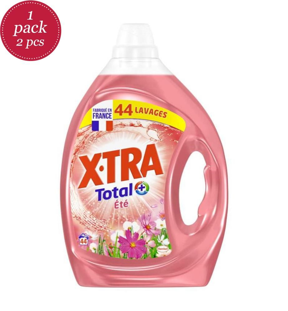 XTRA - Flüssigwaschmittel 2.2L Sommer - 44 Waschgänge - 2er-Set