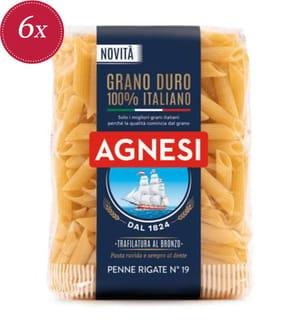Agnesi Penne Rigate N°19 - 6 x 500 g