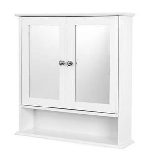 VASAGLE - Spiegelschrank Badschrank Hängeschrank Spiegel mit Ablage Schminkschrank