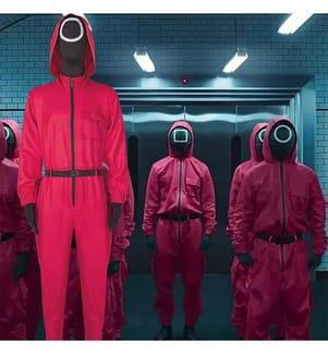 Squid Game Kostüm (ohne Maske) - Rot