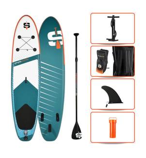 "Aufblasbares SUP Pack  M 10.6"" - Simple Paddle - Multicolor"