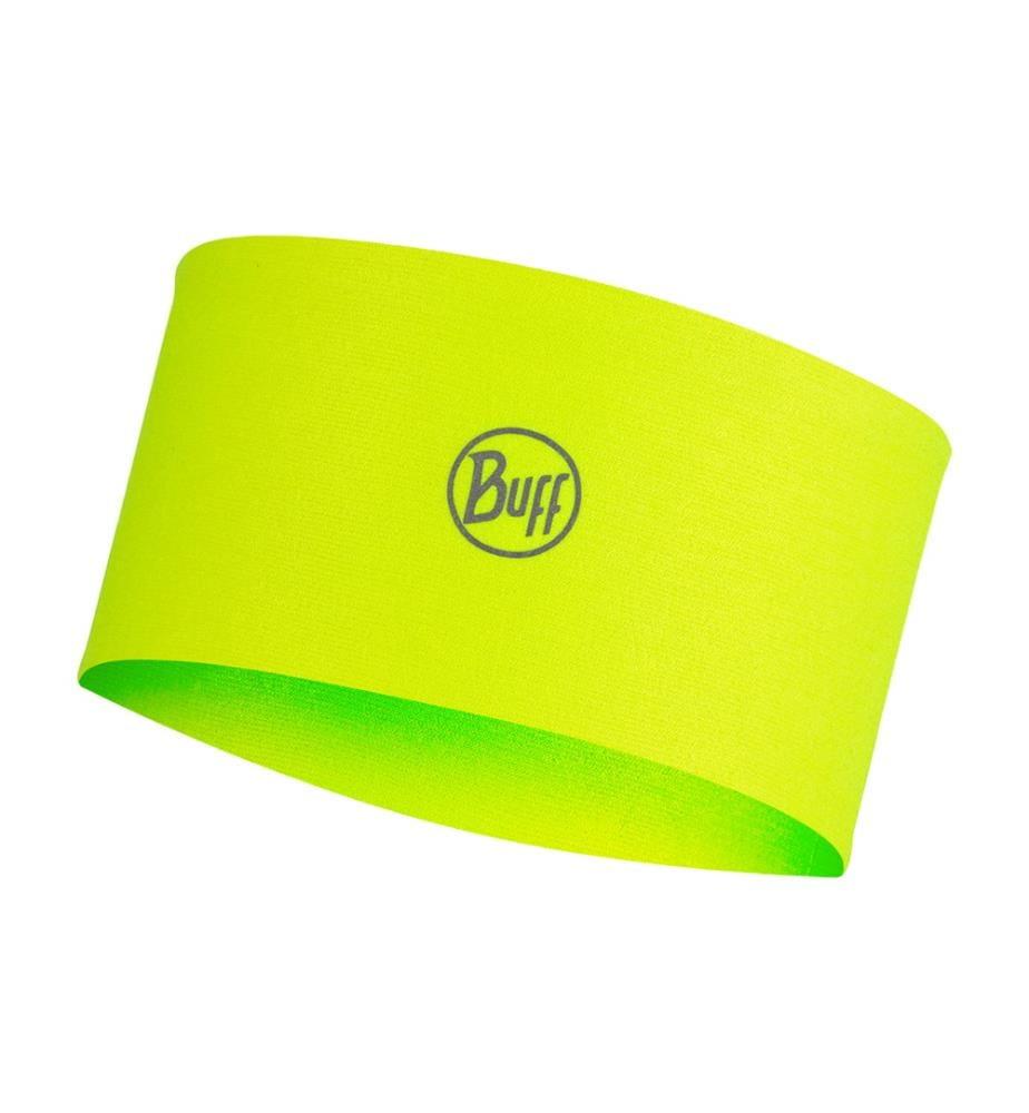 Stirnband Solid Gelb Fluor