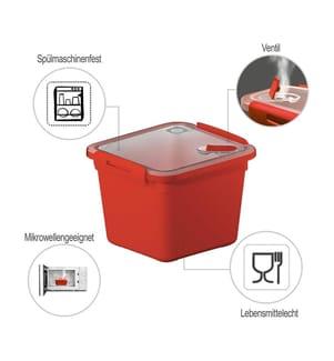 ROTHO - Mikrowellendose Memory 1.6 L, Rot