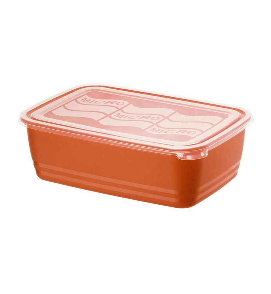 ROTHO - Mikrowellendose Eco 3.7 Liter, Papaya Rot