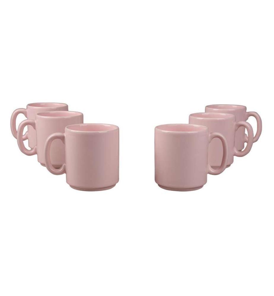 Mug-Set (6 Stück) - Rosa