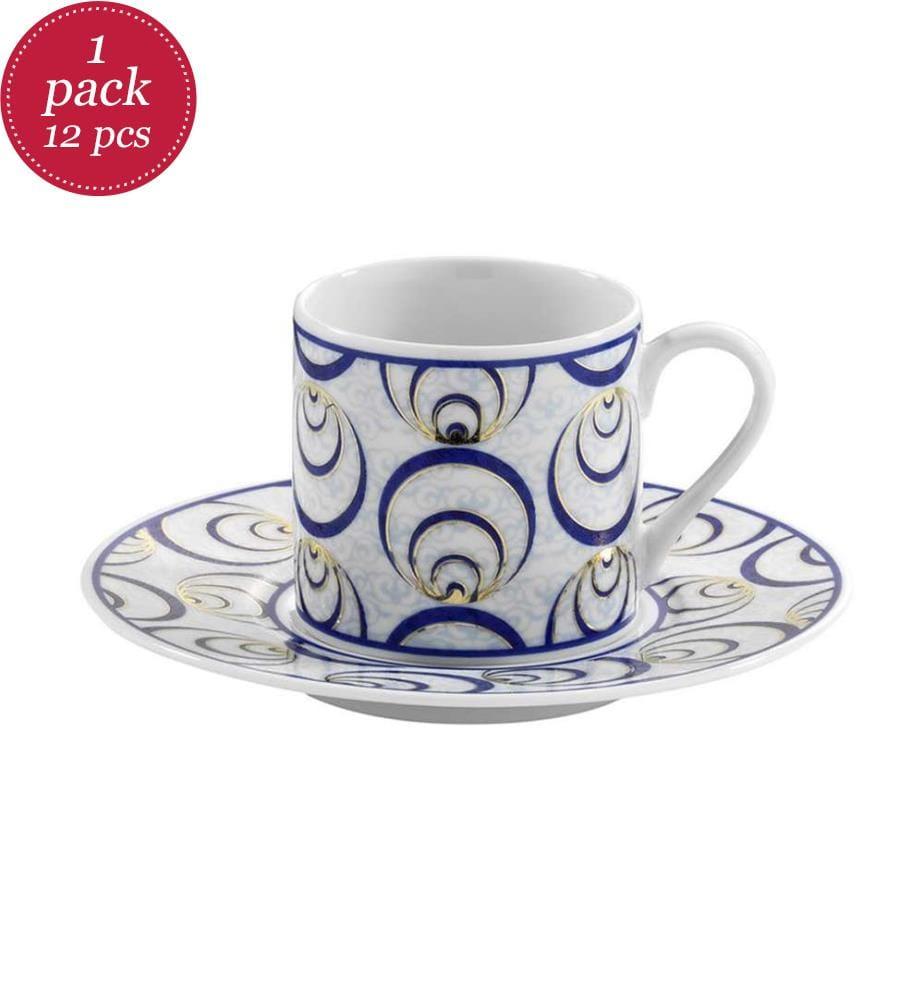 Kaffeetassen-Set (12 Stück) - Multicolor