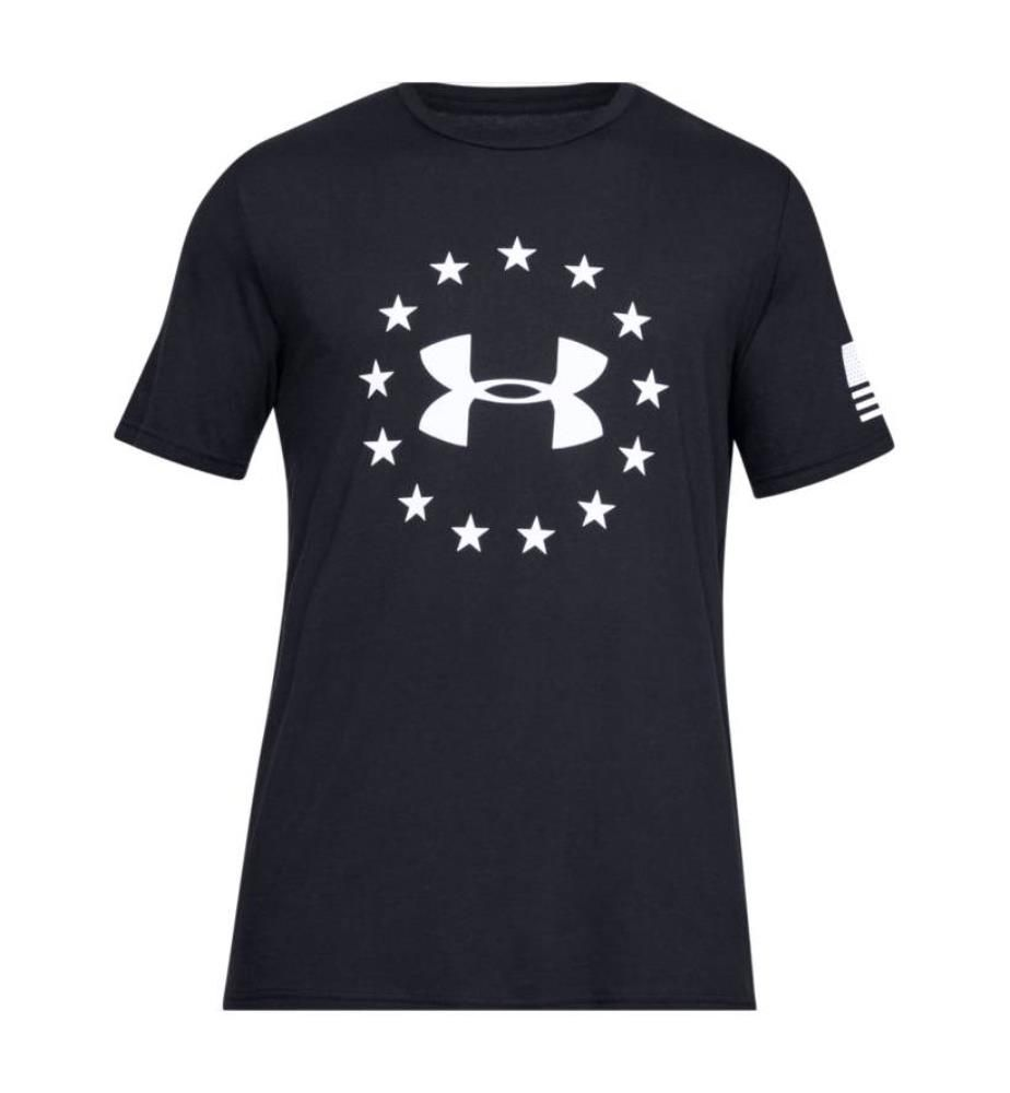UNDER ARMOUR - T-Shirt Freedom Logo - Schwarz