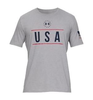 UNDER ARMOUR - T-Shirt Freedom USA - Grau