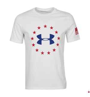UNDER ARMOUR - T-Shirt Freedom Logo - Weiss