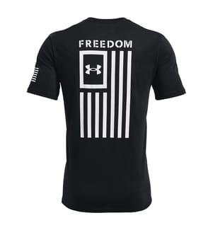 UNDER ARMOUR - T-Shirt Freedom Flag - Schwarz