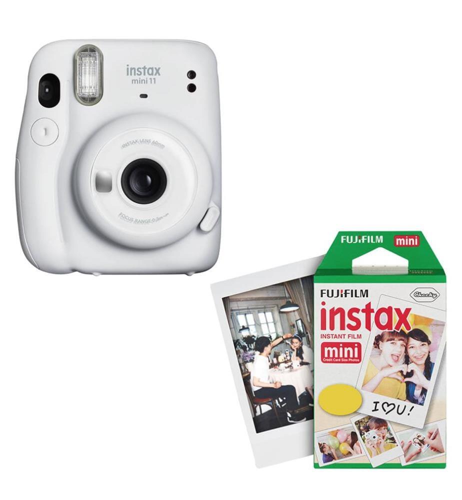 FUJIFILM - Sofortbildkamera & Instant Film für 40 Fotos Instax Mini 11 - Weiss