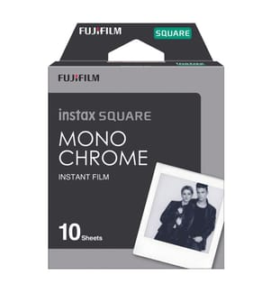 FUJIFILM - Sofortbildfilm Instax Square Monochrome 10 Bilder