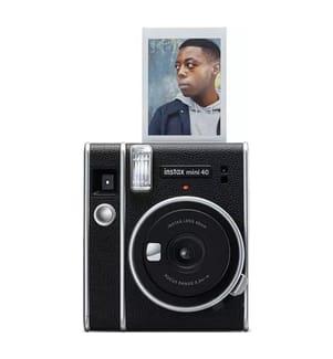 FUJIFILM - Sofortbildkamera & Instant Film für 40 Fotos Instax mini 40 - Schwarz