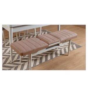 Tisch-Stuhl-Set (5 Stück) - Weiss und Stein