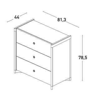 Schublade - Weiss und Braun