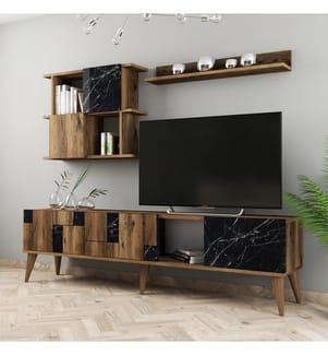 TV-Element - Braun und Schwarz