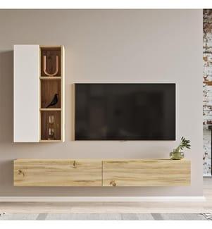 TV-Element - Braun und Weiss