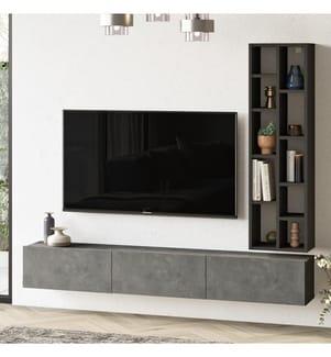TV-Element - Silber und Schwarz
