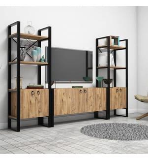TV-Möbel - Braun und Schwarz