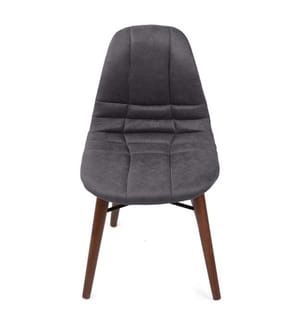 Stuhlset (2 Stück) - Dunkelgrau und Braun