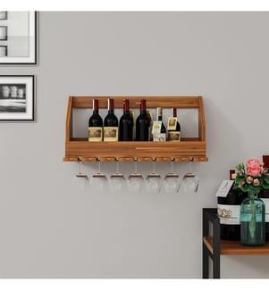 Weinregal aus Holz - Braun