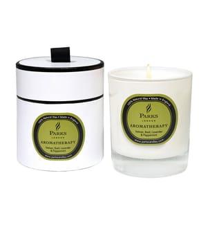 PARKS LONDON - Duftkerze Vetiver, Basil, Lavender and Peppermint - Aromatherapy 200 g