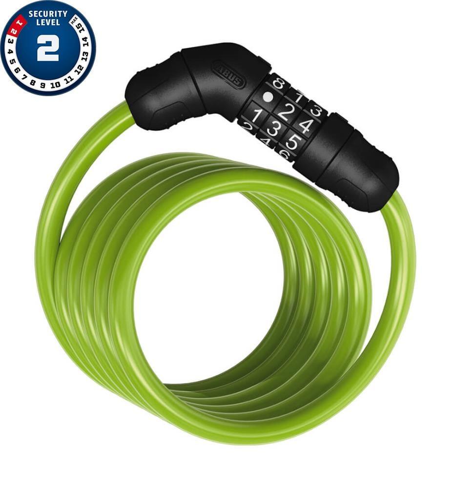 ABUS - Spiralkabelschloss STAR 4508C/150/8, 150 cm - Grün