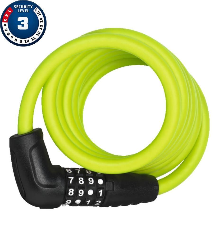 ABUS - Spiralkabelschloss Numero 5510C/180/10 LIME SCMU