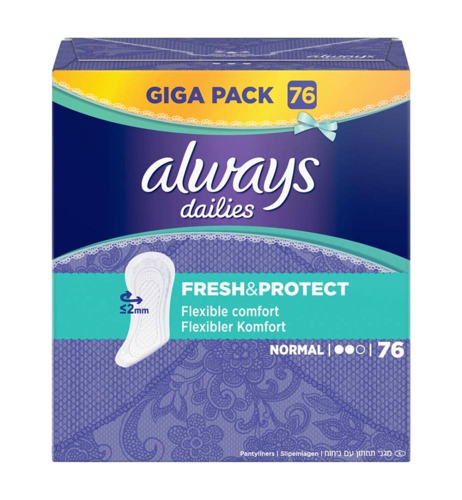 Always Fresh & Protect Slipeinlagen Normal - 76 Stück