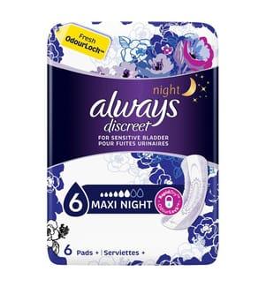 Always Discreet Einlagen Maxi Night Bei Blasenschwäche - 6 Stück