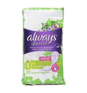 Always Discreet Inkontinenz-Einlagen Light 22 Stück, Bei Blasenschwäche
