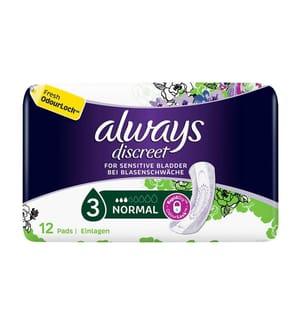 Always Discreet Einlagen Normal Bei Blasenschwäche - 12 Stück