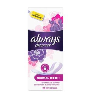 Always Discreet Inkontinenz-Slipeinlagen Normal 28 Stück, Bei Blasenschwäche