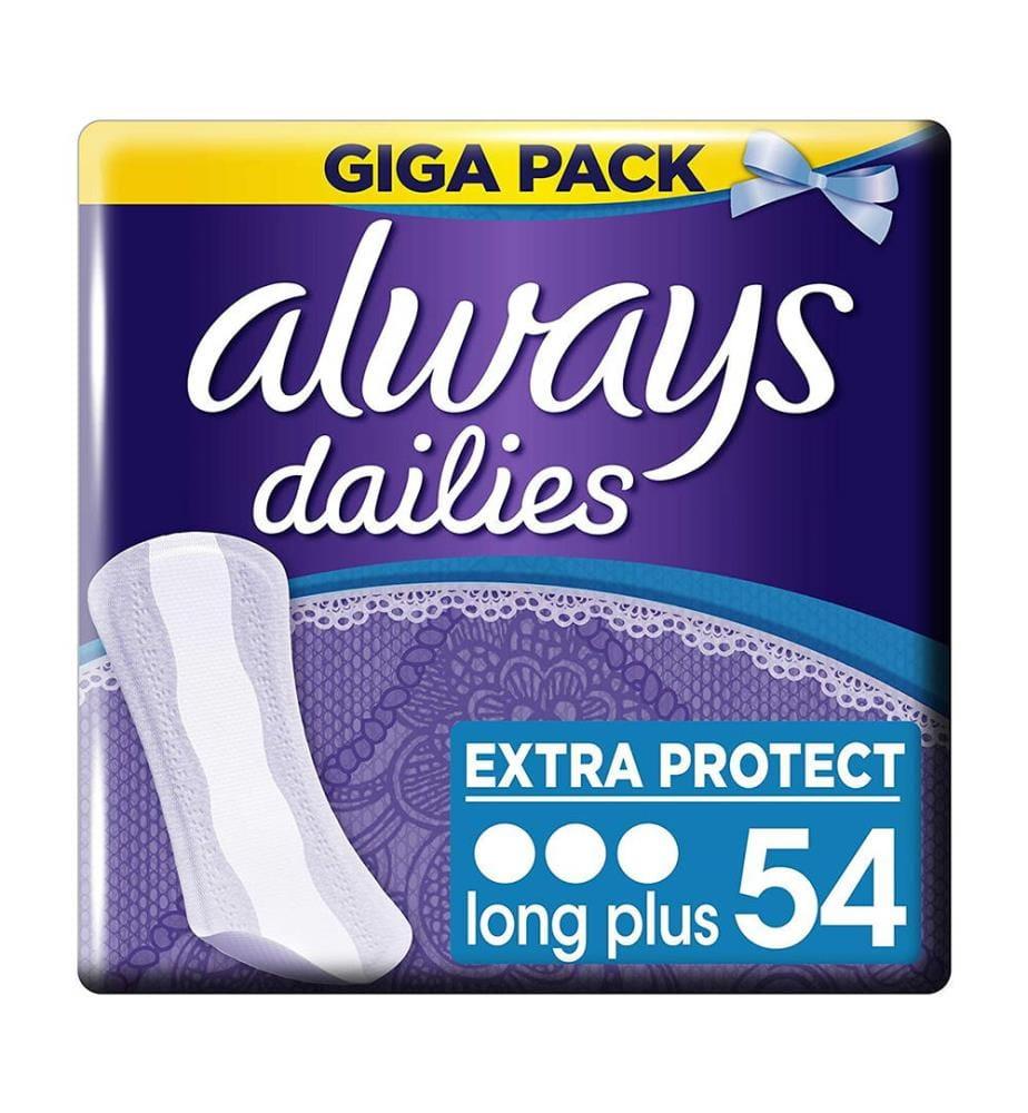 Always Extra Protect Slipeinlagen Long Plus - 54 Stück