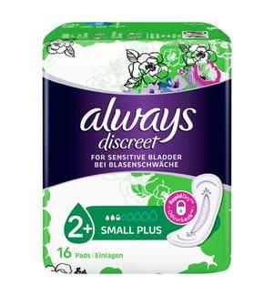 Always Discreet Einlagen Small Plus Bei Blasenschwäche - 16 Stück