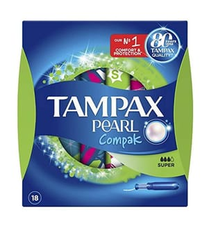 Tampax Tampons Pearl Compak Super - 18 Stück