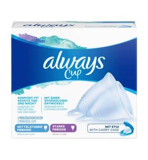 Always Menstruationstasse Cup mittelstarke & starke Periode - 2 Stück